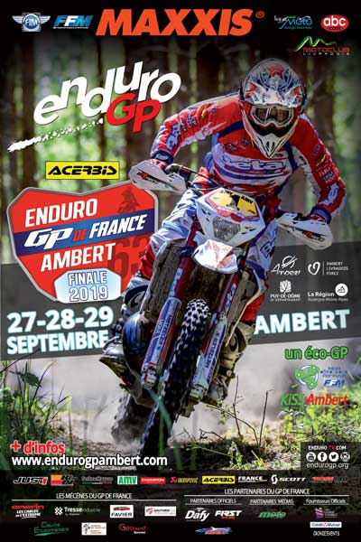 Visuel officiel du GP de France Enduro