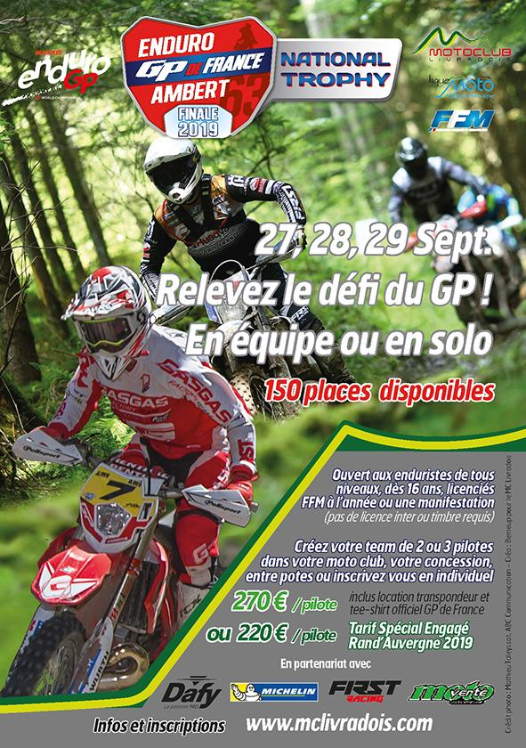Ouverture de engagements du National Trophy